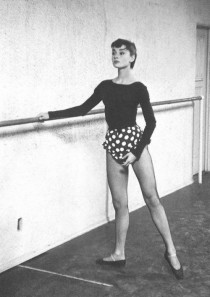 Audrey Hepburn was an accomplished ballerina. Undated photo, ca. 1954