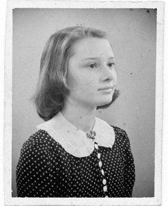 Audrey Hepburn-Ruston, ca. 1941 (age 12)