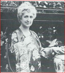 Clarissa Miller, Agatha Christie's mother, at her home in Torquay, England, before the start of the First World War (1914)