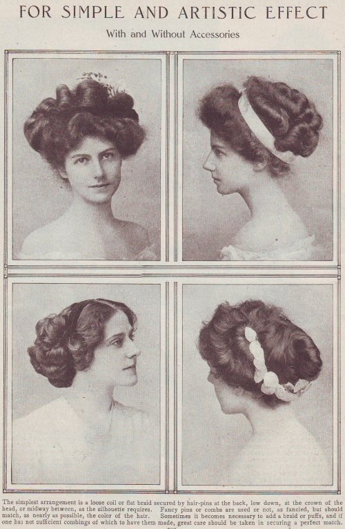 simple haircut designs edwardian era s history room 1908 | edwardian hairstyles