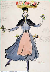 "Cecil Beaton's costume design for character Eliza Doolittle in ""My Fair Lady"" musical film 1964"