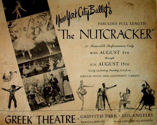 1954 ad for George Balanchine's smash hit, The Nutcracker