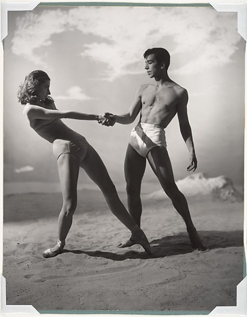 "Tanaquil Le Clercq and Nicholas Magallanes in ""Jones Beach,"" 1950"