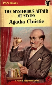 The Mysterious Affair at Styles by Agatha Christie (1920) introduces retired Belgian detective Hercule Poirot. This is Christie's first published book.