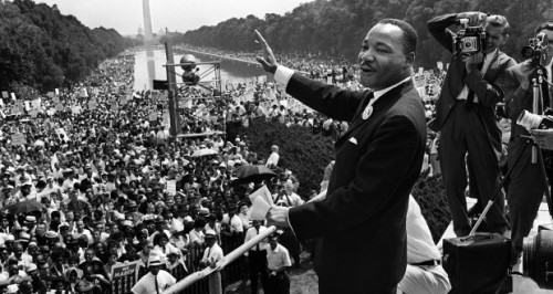Dr. Martin Luther King, Jr., at the March on Washington, August 28, 1963. Credit:-/AFP/Getty Images