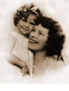 Shirley Temple with her mother Gertrude