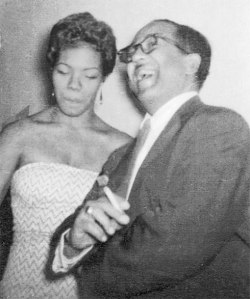 Poets Maya Angelou and Langston Hughes hang out. Undated, prob. ca. 1960s.