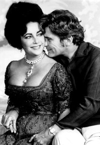 Elizabeth Taylor, 44, and John Warner, 50, prior to their marriage, December 1978.