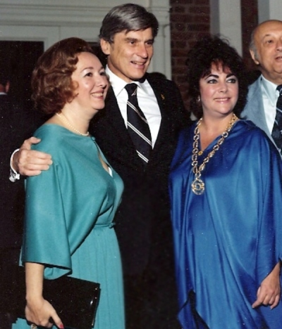 John Warner and Elizabeth Taylor, ca. 1978
