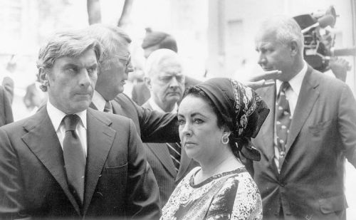 John Warner became the Republican nominee for the 1978 U.S. Senate race by a strange circumstance. Richard Obenshain was the nominee but he died in a plane crash. John Warner and wife Elizabeth Taylor are shown here at Obenshain's funeral. Aug. 5, 1978. Photo: Don Long, Richmond Times Dispatch