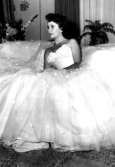 "Elizabeth Taylor in ""A Place in the Sun,"" 1951. Costumes by Edith Head."