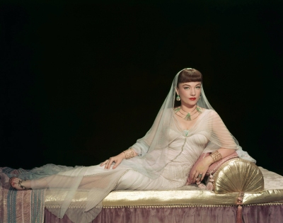 "Anne Baxter in Cecil B. DeMille's 1956 remake of ""The Ten Commandments."" Costumes by Edith Head."