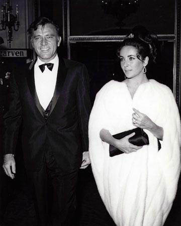 Richard Taylor and Elizabeth Burton. Undated photo