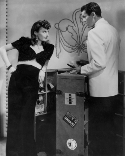 "Barbara Stanwyck and Henry Fonda in ""The Lady Eve,"" 1941. Costumes by Edith Head."