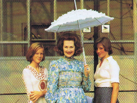 Princess Diana, at right, stands with stepmother, Raine, Countess Spencer, middle, and a friend. Undated photo, ca. 1977