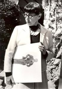 Edith Head with sketch