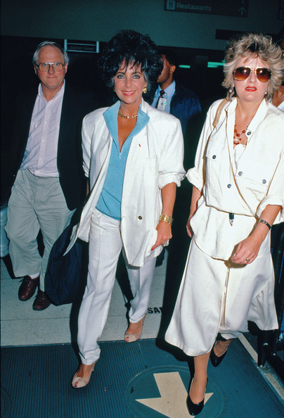 Elizabeth Taylor, age 55, looking healthy and trim. 1987