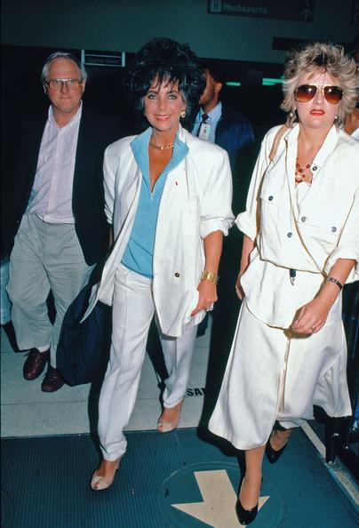 Elizabeth Taylor, age 55, looking healthy and trim. 1987