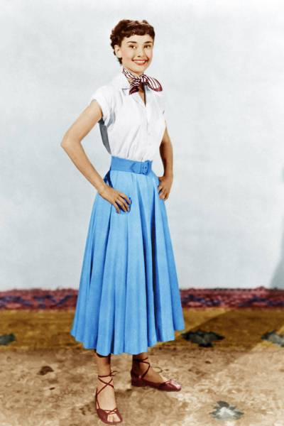 "Audrey Hepburn in ""Roman Holiday,"" 1954. Costumes by Edith Head."