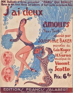 Sheet music with Josephine Baker and Chiquita