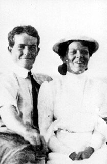 Dr. Thomas Hepburn and Katharine Houghton Hepburn, parents of Katharine Hepburn. Undated photo