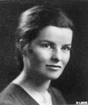 Katharine Hepburn from the Bryn Mawr College Yearbook 1928.