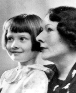 The Dutch Baroness Ella van Heemstra and daughter, Audrey Ruston (Hepburn) ca. 1935