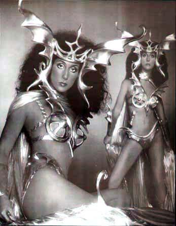 Cher in album cover B Mackie
