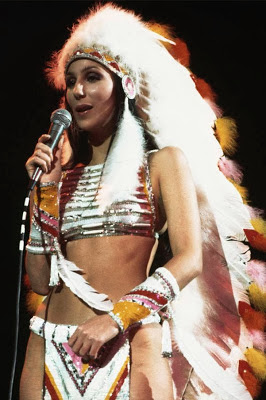 Cher in her 'Half Breed'outfit 1973