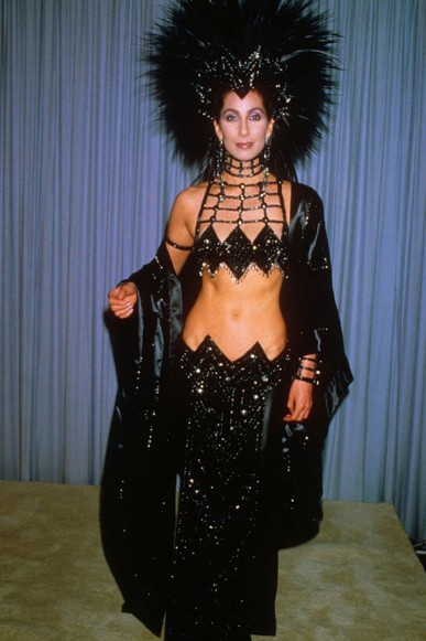 "Cher was miffed that she wasn't nominated for her 1985 starring role in the film, ""Mask,"" prompting her to appear in her role as an award presenter in this provocative Mackie number. 1986"