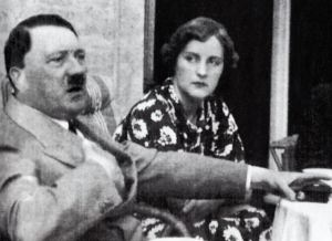 Adolf Hitler and British citizen and devotee, Unity Mitford. photo undated, ca. 1938