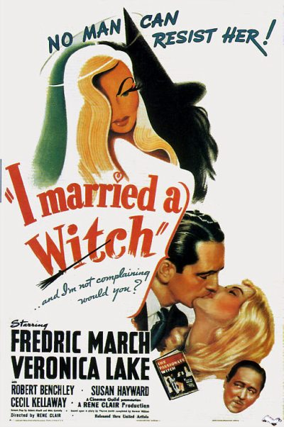 "In filming ""I Married a Witch,"" Veronica Lake played tricks on Frederic March, because she hated him, like kneeing him in the groin during a tender scene while the cameras were rolling."