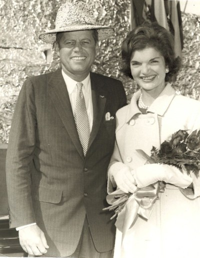 Senator John F. Kennedy and wife Jackie at the Rice Festival, Crowley, Louisiana. October 1959