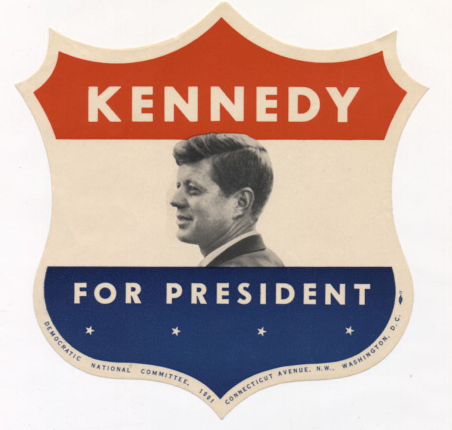 1960 presidential campaign sticker