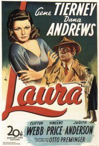 "Gene Tierney smolders as ""Laura."" (1944),"