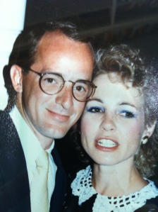 My husband, Tom Rogers, and I at our wedding banquet. 1986