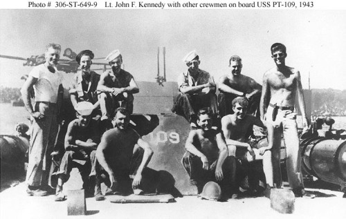 Patrol Torpedo 109 commanded by John F. Kennedy at far right. 1943