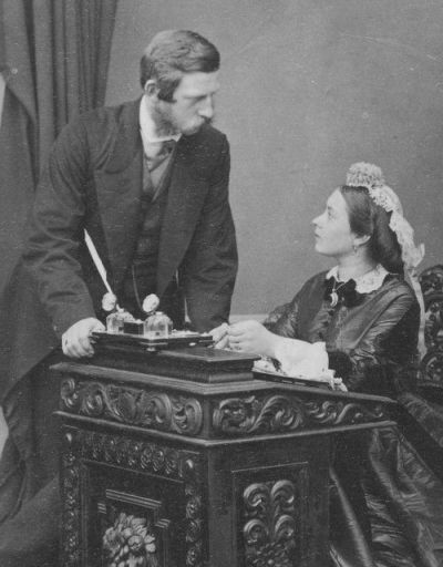Frederick III of Prussia and his wife Princess Vicky. Undated photo, Ca early to mid1860s.