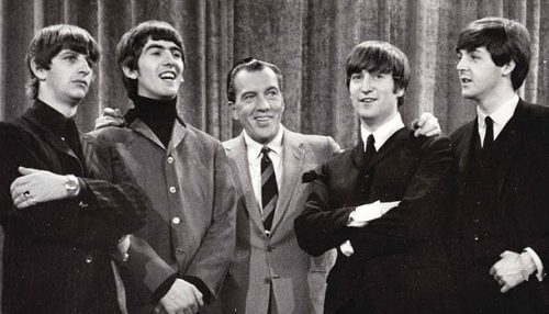 The Beatles on the Ed Sullivan Show. Feb. 9, 1964