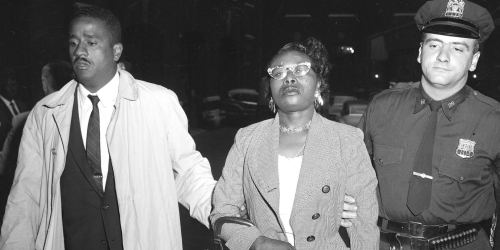 Izola Ware Curry, Dr. Martin Luther King's assailant. Following her arrest, psychiatrists evaluated her and diagnosed her with paranoid schizophrenia and an I.Q. of about 70. She was institutionalized and died in 2015, at the age of 98. (Getty Images)
