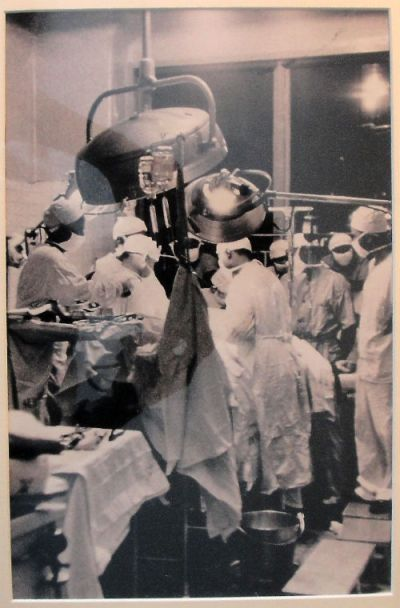 A rare photograph of the operation on Dr. Martin Luther King, Jr, when he was stabbed in Harlem on September 20, 1958