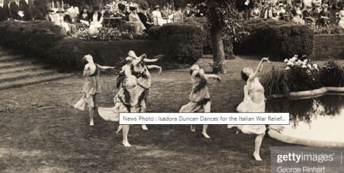 Isadora dances for Ital war relief fund